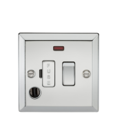 ML Accessories 13A Switched Fused Spur with Neon & Flex Outlet (Polished Chrome)