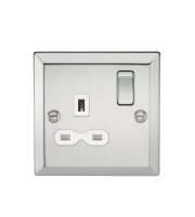 ML Accessories 13A 1G DP Switched Socket (Polished Chrome)