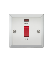 ML Accessories 45A DP Switch with Neon (Polished Chrome)
