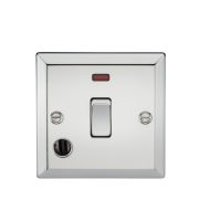 ML Accessories 20A 1G DP Switch with Neon & Flex Outlet (Polished Chrome)