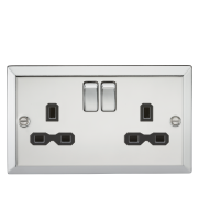 ML Accessories 13A 2G DP Switched Socket (Polished Chrome)