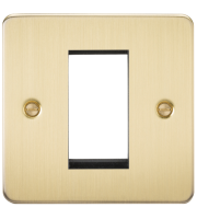 ML Accessories Flat Plate 1G Modular Faceplate (Brushed Brass)