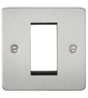 ML Accessories Flat Plate 1G Modular Faceplate (Brushed Chrome)