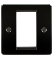 ML Accessories Flat Plate 1G Modular Faceplate (Gunmetal)
