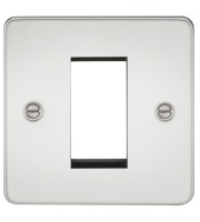 ML Accessories Flat Plate 1G Modular Faceplate (Polished Chrome)