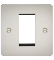 ML Accessories Flat Plate 1G Modular Faceplate (Pearl)