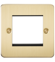ML Accessories Flat Plate 2G Modular Faceplate (Brushed Brass)