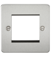 ML Accessories Flat Plate 2G Modular Faceplate (Brushed Chrome)