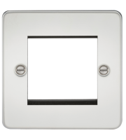 ML Accessories Flat Plate 2G Modular Faceplate (Polished Chrome)