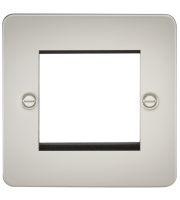 ML Accessories Flat Plate 2G Modular Faceplate (Pearl)