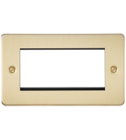 ML Accessories Flat Plate 4G Modular Faceplate (Brushed Brass)