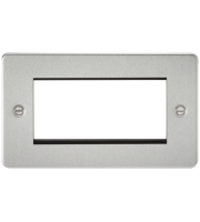 ML Accessories Flat Plate 4G Modular Faceplate (Brushed Chrome)