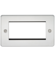 ML Accessories Flat Plate 4G Modular Faceplate (Polished Chrome)