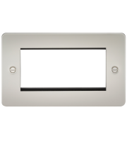ML Accessories Flat Plate 4G Modular Faceplate (Pearl)