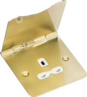 ML Accessories 13A 1G Unswitched Floor Socket (Brushed Brass)