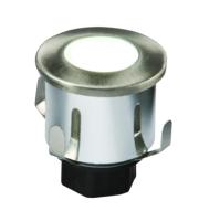 ML Accessories IP65 06W White Mini LED Ground Light Brushed Chrome