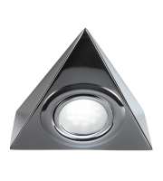 ML Accessories IP20 12V Mini LED Triangle Under Cabinet Light (Chrome)