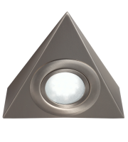 ML Accessories IP20 12V Mini LED Triangle Under Cabinet Light (Brushed Chrome)