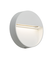 ML Accessories IP44 2W Round LED Wall Light (White)