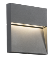 ML Accessories IP44 2W Square LED Wall Light (Grey)