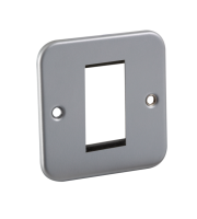 ML Accessories Metal Clad 1G Modular Faceplate (Silver)