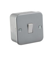 ML Accessories Metal Clad 10A 1G 2 Way Switch  (Silver)
