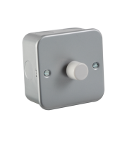 ML Accessories Metal Clad 1G 2 Way 60-400W Dimmer (Silver)