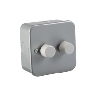 ML Accessories Metal Clad 2G 2 Way 60-400W Dimmer (Silver)