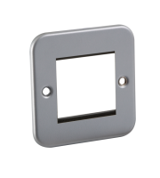 ML Accessories Metal Clad 2G Modular Faceplate (Silver)