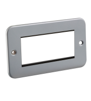 ML Accessories Metal Clad 4G Modular Faceplate (Silver)