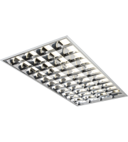 ML Accessories T8 HF CAT2 1200 x 600mm Modular Fluorescent Fitting (Aluminium)