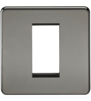 ML Accessories Screwless 1G Modular Faceplate (Black Nickel)