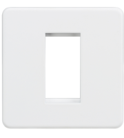 ML Accessories Screwless 1G Modular Faceplate (Matt White)