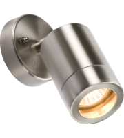 ML Accessories 230V IP65 Adjustable GU10 Wall Light (Stainless Steel)