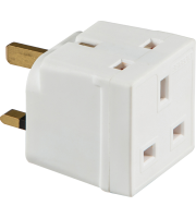 ML Accessories 13A 2 Way Mains Adaptor x 10 Pack (White)