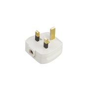 ML Accessories 13A Plug Top with 5A Fuse Screw Cord Grip x 20 Pack (White)
