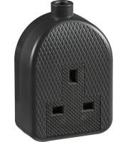 ML Accessories 13A 1G Trailing Socket x 10 (Black)