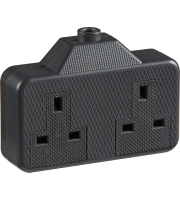 ML Accessories 13A 2G Trailing Socket x 10 Pack (Black)