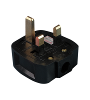 ML Accessories 13A Rough Use Fused Plug Top x 20 Pack (Black)
