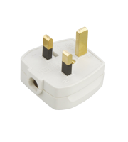 ML Accessories 13A Rough Use Fused Plug Top x 20 Pack (White)