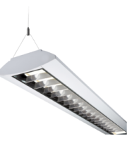 ML ACCESSORIES 230V IP20 35W T5 Twin Fluorescent Fitting With Double Parabolic Louvre (White)