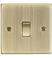 ML ACCESSORIES 10A 1G Intermediate Switch - Square Edge Antique Brass