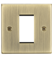 ML ACCESSORIES 1G Modular Faceplate - Square Edge Antique Brass