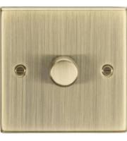 ML ACCESSORIES 1G 2 Way 10-200W Dimmer - Square Edge Antique Brass