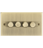 ML ACCESSORIES 4G 2 Way 10-200W Dimmer - Square Edge Antique Brass