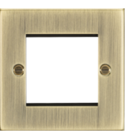 ML ACCESSORIES 2G Modular Faceplate - Square Edge Antique Brass