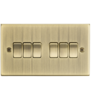 ML ACCESSORIES 10A 6G 2 Way Plate Switch - Square Edge Antique Brass
