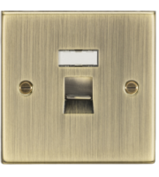ML ACCESSORIES RJ45 Network Outlet - Square Edge Antique Brass