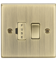 ML ACCESSORIES 13A Switched Fused Spur Unit - Square Edge Antique Brass