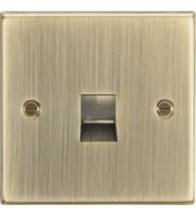 ML ACCESSORIES Telephone Extension Outlet - Square Edge (Antique Brass)